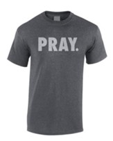 Pray Shirt, Gray, Large
