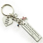 Faith Hope Love Keyring with Charms