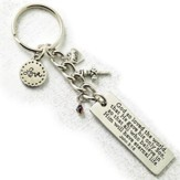 For God So Loved the World Keyring with Charms