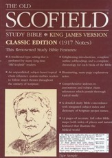 Old Scofield Study Bible Classic Edition, KJV, Bonded  Leather black Thumb-Indexed