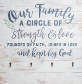 Our Family Is A Circle Of Strength..., Pallet Art with Hooks
