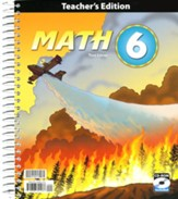 BJU Press Math Grade 6 Teacher's Edition with CD-ROM (Third Edition)