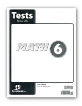 BJU Press Math Grade 6 Test Pack, Third Edition