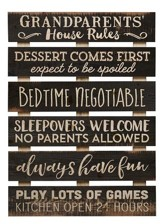 Grandparents House Rules, Pallet Art