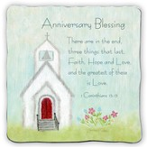 Anniversary Blessing, Square Plaque
