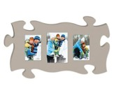 Puzzle Photo Frame, Gray, Large