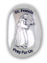 St. Francis, Pray For Us Pocket Stone