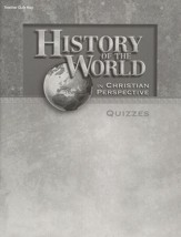 Abeka History of the World Quizzes Key