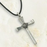 Small Nail Cross, Pewter Pendant