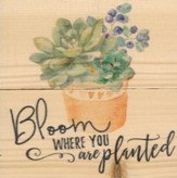 Bloom Where You Are Planted, Rustic Magnet