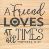 A Friend Loves At All Times, Rustic Magnet