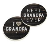 Grandpa, Car Coasters, Set of 2