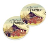 So, God Made A Farmer, Car Coasters, Set of 2