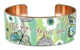 Let Your Spirit Soar, Copper Cuff Bracelet