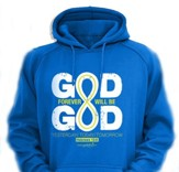 Forever God Hooded Sweatshirt, Blue, Medium