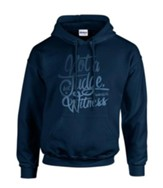 Not To Judge Hooded Sweatshirt, Navy, Medium