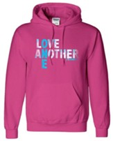 Love One Another Hooded Sweatshirt, Pink, Medium
