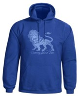 Roaring Lion Hooded Sweatshirt, Blue, Large