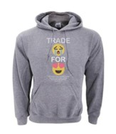 Trade For Joy Hooded Sweatshirt, Gray, Small