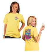 Walk By Faith Shirt, Yellow, Small
