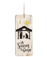 A Savior Is Born, Farmhouse Ornament