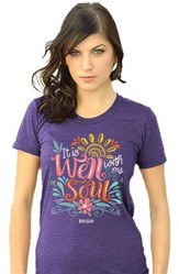It Is Well With My Soul Shirt, Purple, Large