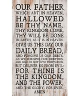 The Lord's Prayer, Pallet Decor
