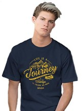 Life is a Journey Shirt, Navy Blue, XXX-Large