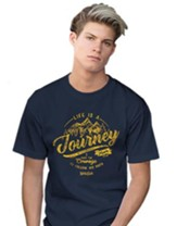 Life is a Journey Shirt, Navy Blue, XXXX-Large