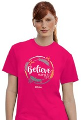 Believe Shirt, Pink, XX-Large