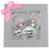 Daughter Is A Gift Keyring