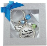 Grandma's Heart Is Filled With Love Keyring