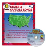 Audio Memory States & Capitals Songs  Poster & CD Set