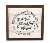 Grateful, Thankful & Blessed, Framed Decor