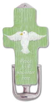 Peace to All Who Enter Here, Cross Door Knocker