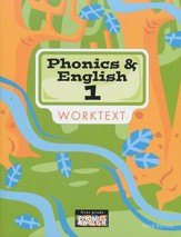 BJU Press Phonics & English Grade 1 Student Worktext (Updated Copyright)