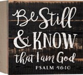 Be Still & Know That I Am God, Barnhouse Box Decor