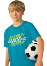 Run the Race Shirt, Blue, Youth Medium