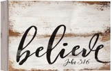Believe, Barnhouse Box Decor