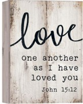 Love One Another As I Have Loved You, Barnhouse Box Decor
