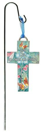 With God, All Things Are Possible Plant Stake