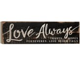 Love Always Trusts, Hopes, Perseveres, Barnhouse Box Decor
