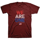 We Are One, Flag, Shirt, Red, Small