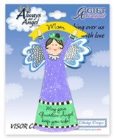 Mom Guardian Angel Visor Clip