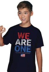 We Are One, Flag, Shirt, Navy Blue, Youth Small