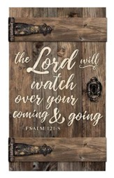The Lord Will Watch Over Your Coming & Going, Door Art