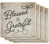 Blessed and Grateful Coasters, Set of 4