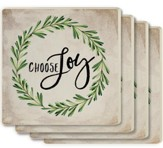 Choose Joy Coasters, Set of 4