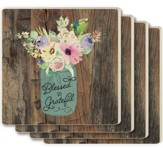 Blessed & Grateful Coasters, Set of 4