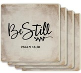 Be Still Coasters, Set of 4